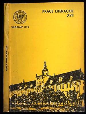 Acta Universitatis Wratislaviensis. Prace Literackie. Nr 17