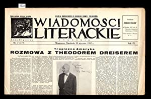 Wiadomosci Literackie. R.9 (1932). Nr 2, 6,