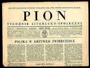 Pion. Tygodnik literacko-spoleczny. R.4 (1936). Nr 8,
