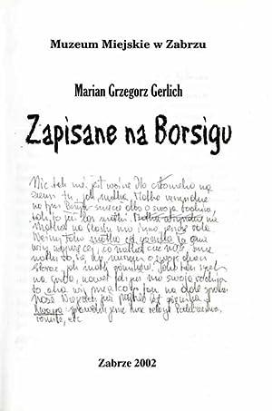 Zapisane na Borsigu.: Gerlich Marian Grzegorz: