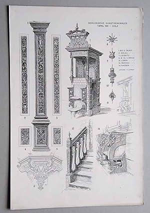 Bilderwerk Schlesischer Kunstdenkmäler. Mappe III: Innere Ausstattung.