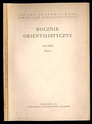 Rocznik Orientalistyczny. T.34 (1971). Z.1.