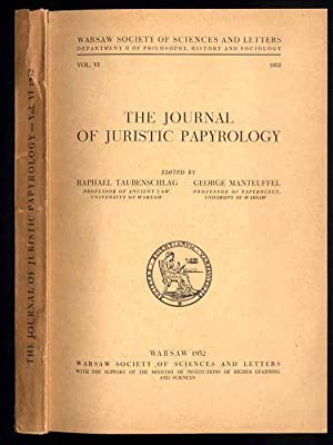 The Journal of Juristic Papyrology = Rocznik