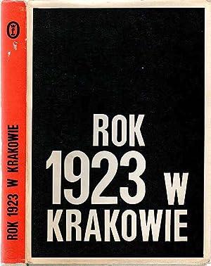 Rok 1923 w Krakowie. Rozprawy i studia.