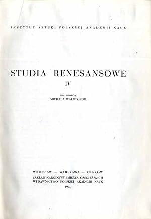 Studia renesansowe. T.4.
