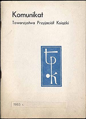 Komunikat Towarzystwa Przyjaciol Ksiazki 1983 r.