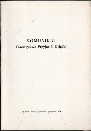 Komunikat Towarzystwa Przyjaciol Ksiazki. Nr 1-5 (50-53)