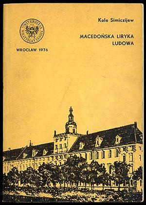 Macedonska liryka ludowa.: Simiczijew Kole: