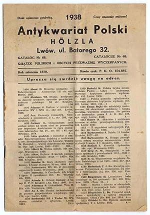 Antykwariat Polski Hölza, Lwow, ul. Batorego 32.