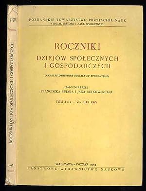 Roczniki Dziejow Spolecznych i Gospodarczych. T.44 (1983).