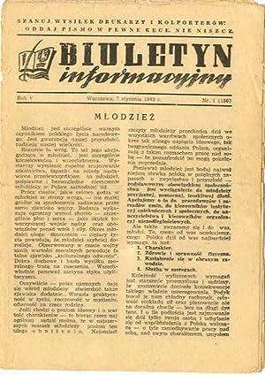 Biuletyn Informacyjny. R.5 (1943) Nr 1, 4, 8, 11, 12, 13, 14, 15, 16, 17, 20, 21, 22, 28, 30, 31, ...