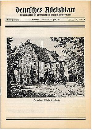 Deutsches Adelsblatt. R.10 (1971). Nr 7 (15 VII 1971) [Herrenhaus Wiesa, Oberlausitz].