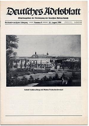 Deutsches Adelsblatt. R.23 (1984). Nr 8 (15 VIII 1984) [Schloß Schlüsselburg bei Blatna&...