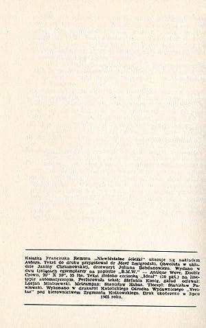 Niewidzialne sciezki (Zdarzenia prawdziwe).: Remus Franciszek: