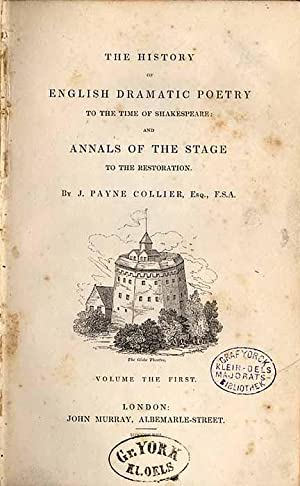 The History of English Dramatic Poetry to: Collier J.Payne: