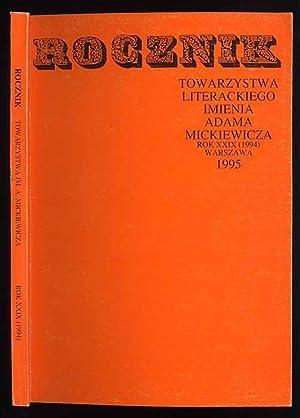 Rocznik Towarzystwa Literackiego imienia Adama Mickiewicza. R.29 (1994).