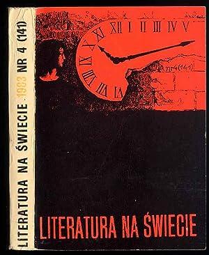 Literatura na swiecie. Nr 4 (141).