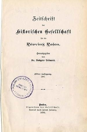 Zeitschrift der Historischen Gesellschaft für die Provinz Posen. R.11-12 (1896-1897)