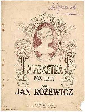 """Alabastra."""" Fox-Trot.: Rozewicz Jan (muzyka):"""
