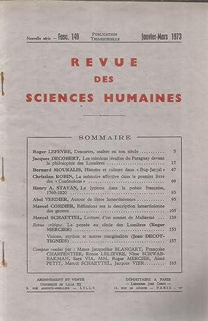 Revue des sciences humaines abebooks for Revue sciences humaines
