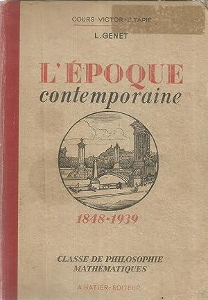 L'époque contemporaine (1848 - 1939) - Classe: Genet, L.