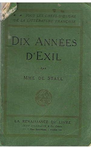 Dix années d'exil: Stael, Mme. de