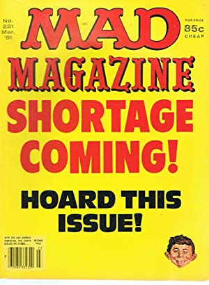Mad Magazine March '81 - Shortage coming!