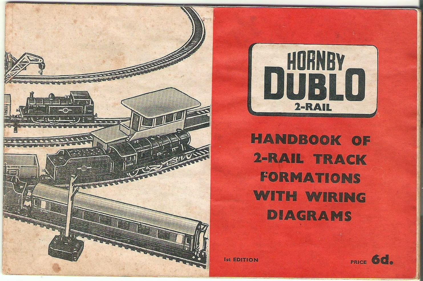 Hornby Dublo 2-rail. Handbook of 2-rail Track Formations with Wiring  Diagrams