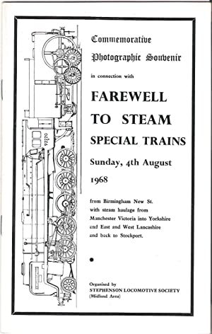 Commemorative Photographic Souvenir in Connection with Farewell: Stephenson Locomotive Society