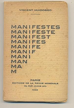 Manifestes: Huidobro, Vincent (Vicente)