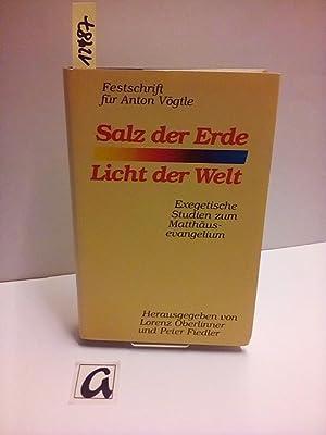 Salz der Erde - Licht der Welt.: Oberlinner, Peter /