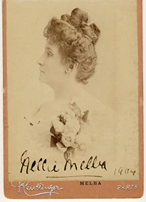 Signed Photograph (SP) with Strong Autograph Signature 'Nellie Melba 1904': Dame Nellie ...