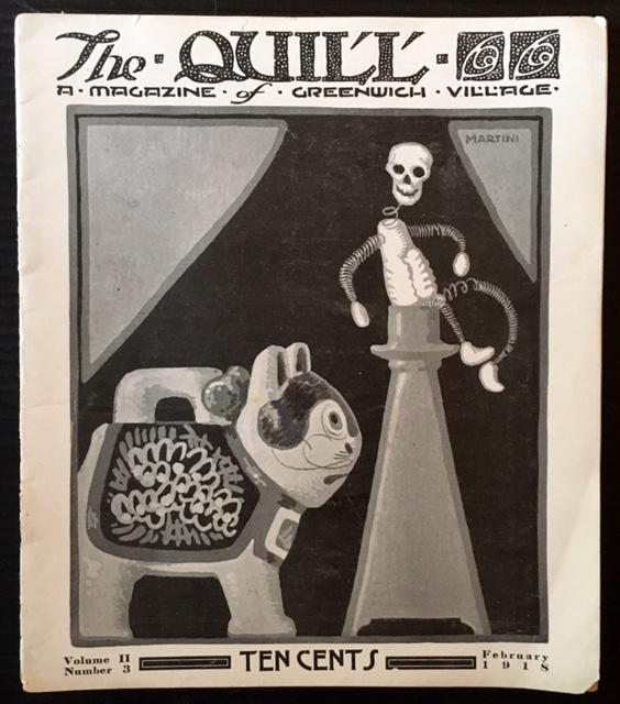 The Quill: A Magazine of Greenwich Village (9 Issues--Including Vol. 1, No. 1): -