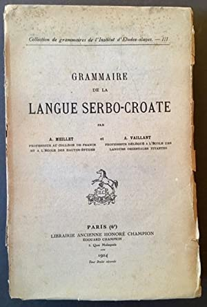 Grammaire De La Langue Serbo-Croate