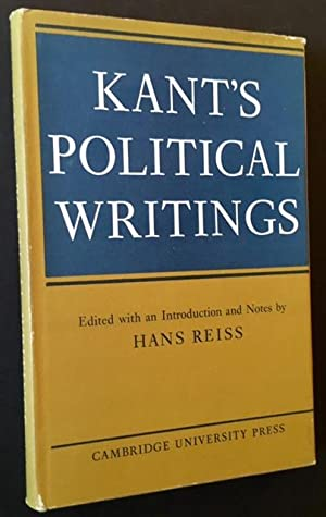 Kant's Political Writings: Hans Reiss, Ed