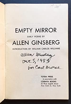 Empty Mirror: Early Poems: Allen Ginsberg