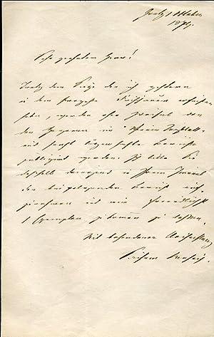 Autograph Letter Signed: Leopold Von Sacher-Masoch