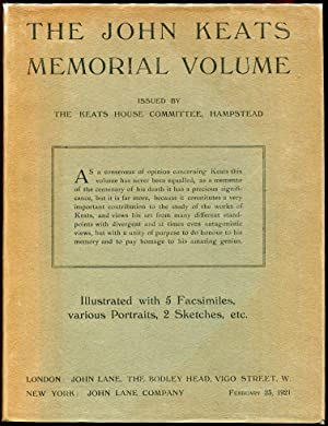 The John Keats Memorial Volume
