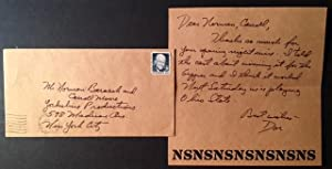 2 Early, Handwritten Neil Simon Letters Signed