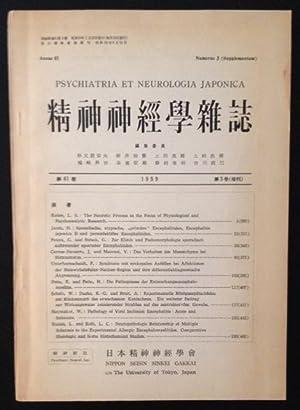 Psychiatria et Neurologia Japonica
