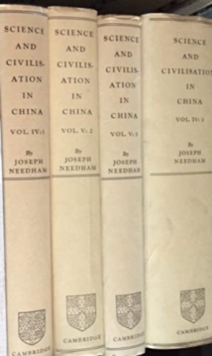 Science & Civilisation in China (Vols. I-IV Complete and Vol. V Parts 2 & 3) --8 Books: ...