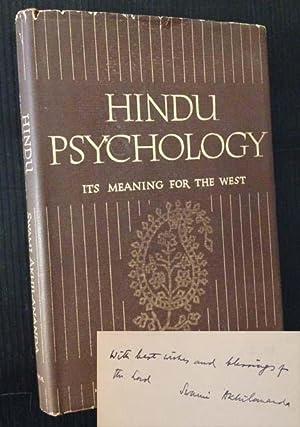 Hindu Psychology: Its Meaning for the West: Swami Akhilananda