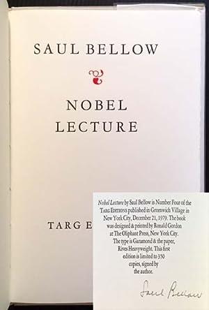 Nobel Lecture (December 12, 1976): Saul Bellow