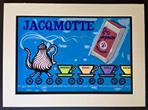Handpainted Belgian Coffee Advertisement (Jacqmotte Cafes)