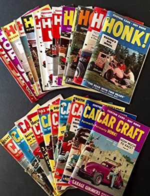 A Collection of Vintage Hot Rod-Themed Magazines from the Early 1950s (February 1952-September 1954)