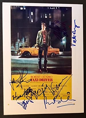 """Signed Photograph of the Original Poster of Martin Scorcese's """"Taxi Driver"""""""