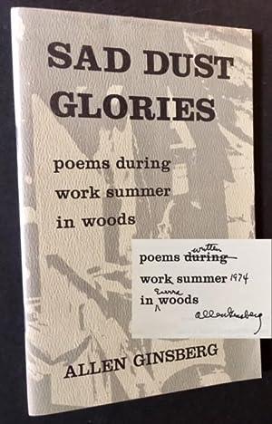 Sad Dust Glories: poems during work summer: Allen Ginsberg