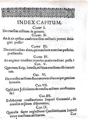Miles transiens innoxius, sive Tractatus de transitu: FRITSCH AHASVER
