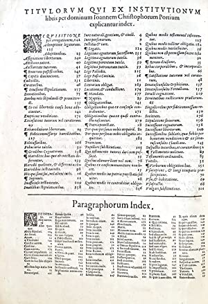 In tres priores Institutionum libros eruditissimi commentarii: PORTIUS CHRISTOPHORUS