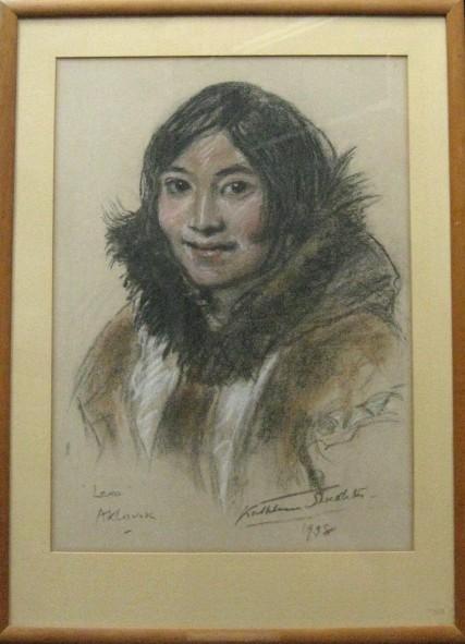 """Lena"" Aklavik (Original Eskimo Painting): Shackleton, Kathleen (1884-1961)"